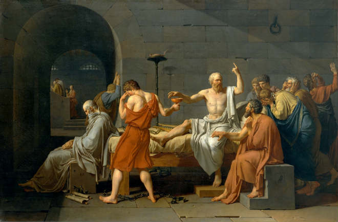 The Death of Socrates, av Jacques-Louis David.