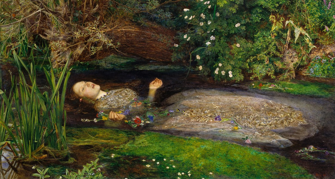 Sir John Everett Millais, Ofelia (1852).