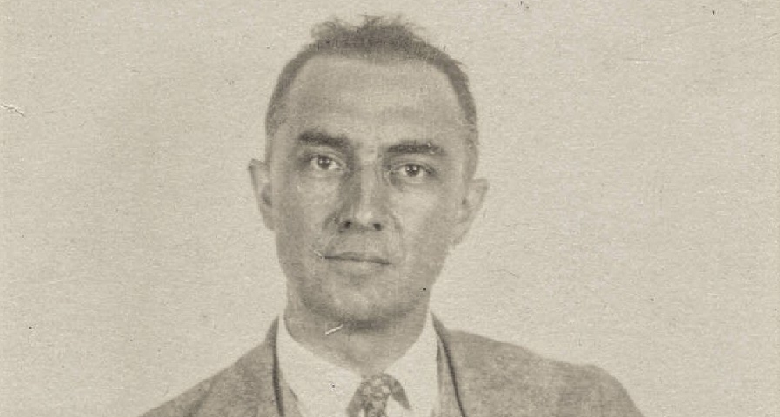 William Carlos Williams. Passfoto (beskuret)