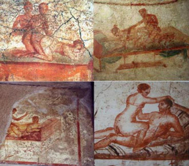 services painted walls brothel pompeii