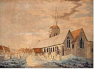 A Street in Margate, akvarell, 1786