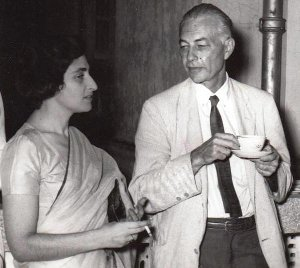 Ruth Prawer Jhabvala och William Phillips i New Dehli 1962. Från Wikipedia