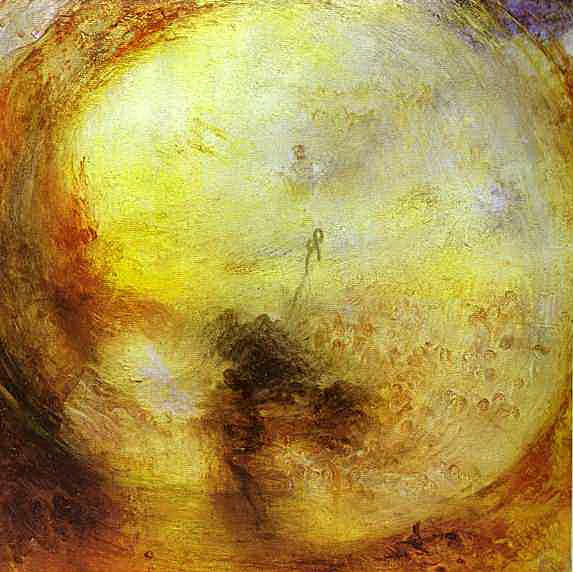 The Morning after the Deluge - Moses writing the Book of Genesis. Oljemålning av J.M.W. Turner