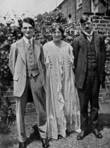 John Middleton Murry, Frieda Lawrence och  D H Lawrence ca 1914