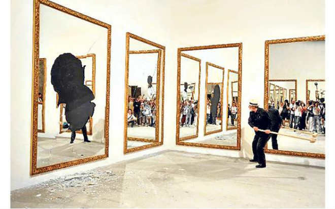michelangelo pistoletto seventeen less one