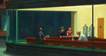 Edward Hopper, Nattugglor, 1942. Foto: Wikipedia