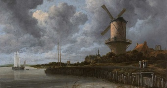 Jacob van Ruisdael målning The Windmill at Wijk (1670)